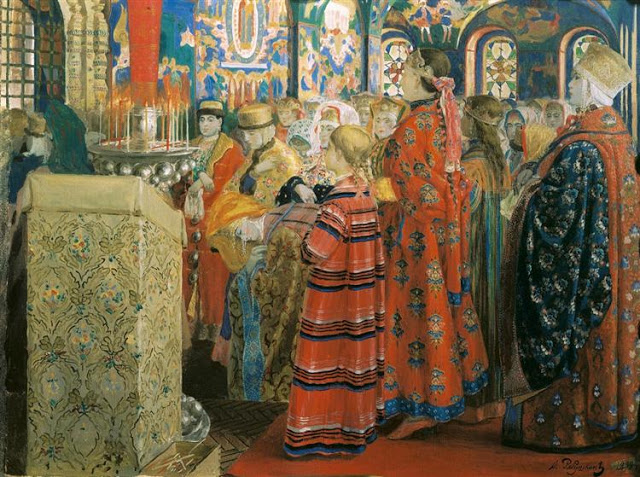 russian women in church