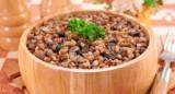 Каша гречана, запечена з грибами