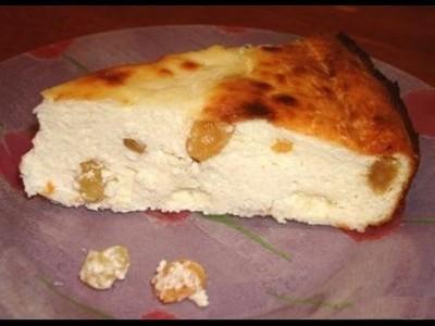 Бабка сирна з ізюмом
