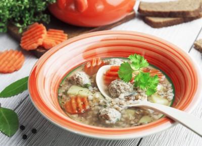 Суп з гречкою і фрикадельками