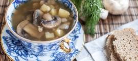 Грибний суп з перловою крупою